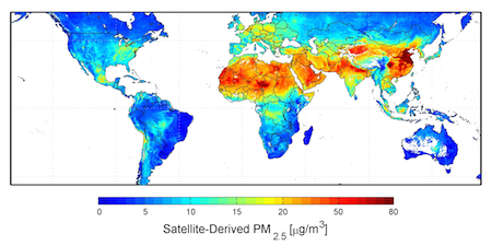 Global Particulate Matter (<2.5μm) Distribution