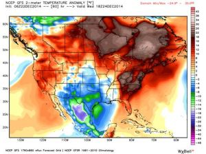 Christmas 2014 Temp Anomaly